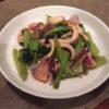 イカがうまい!!イカと小松菜の炒め物